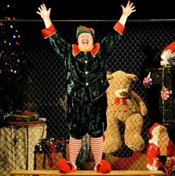 Lennie Watts is marvelous as Crumpet, the Macy's Department Store elf, in the SantaLand Diaries, which opened for the season at Ocean State Theatre Company. Photo: Mark Turek.